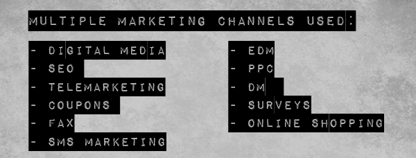 Multiple Marketing Channels Used